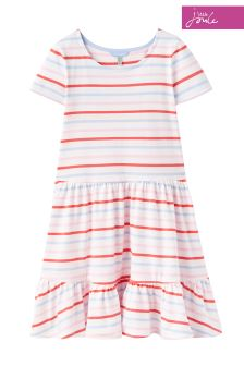Joules Red Sky Multi Stripe Coco Dress