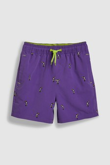 Embroidered Toucan Swim Shorts (3mths-16yrs)