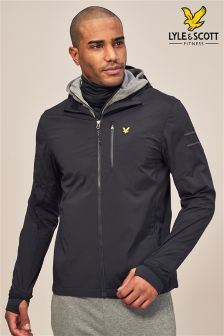 Lyle & Scott Sport Black Ultra Tech Running Jacket