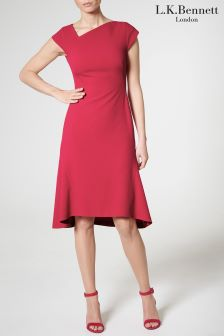 L.K.Bennett Fuchsia Ire Dress