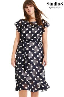 Studio 8 Blue Viviana Spot Dress