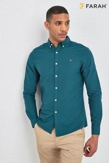 Farah Blue Brewer Slim Shirt