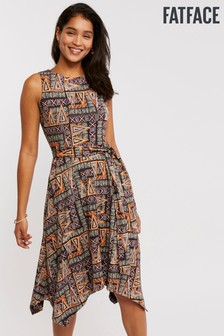 FatFace Black Rosa Tribal Triangles Dress