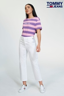 Tommy Jeans High Rise White Trouser