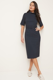 Tailored Belted Dress