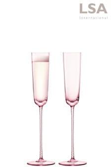 Súprava 2 červenkastých fláut na šampanské LSA International Theatre