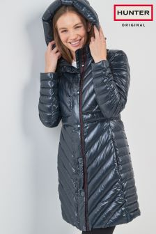 Hunter Navy Original Long Padded Coat