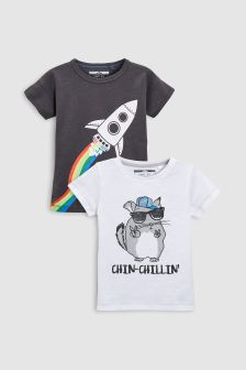 Character T-Shirts Two Pack (3mths-6yrs)
