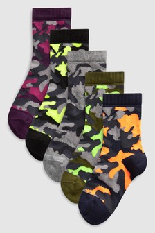 Camo Socks Five Pack (Older)