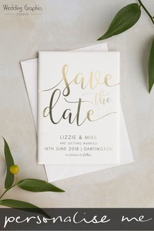 Personalised Save The Date Magnet by Wedding Graphics