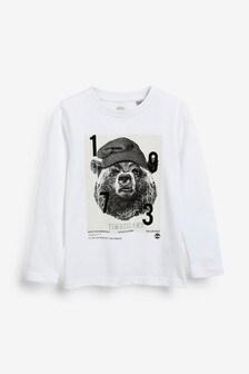 Timberland® White Bear Long Sleeve T-Shirt