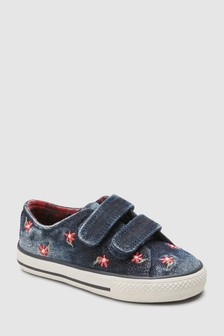 Embroidered Touch Fastening Trainers (Younger)