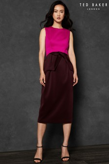 Ted baker bow neck bodycon dress