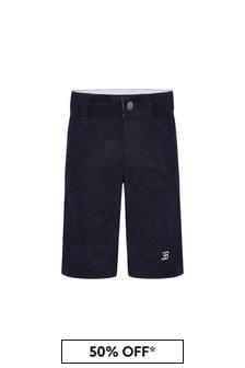 Bugatti Navy Cotton Shorts