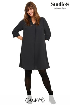 Studio 8 Grey Bette Shirt Swing Dress