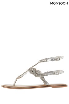 Monsoon Ladies Metalic Giovanna Glamorous Gladiator