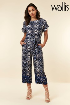 Wallis Blue Tie Dye Jumpsuit