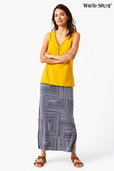 White Stuff Blue Ekon Jersey Maxi Skirt