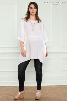 Live Unlimited White Box Blouse