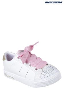 Skechers® White Twinkle Breeze 2.0 Side Stars Oversized Trainer