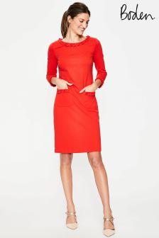 Boden Red Ponte Dress