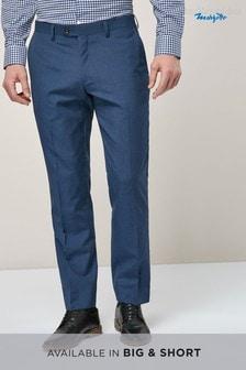Фирменный фактурный костюм приталенного кроя: брюки