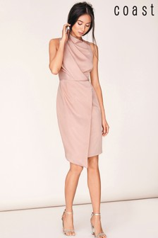 Coast Pink Bella Soft Drape Shift Dress