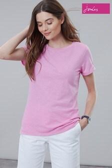 Joules Pink Nessa Lightweight Jersey T-Shirt