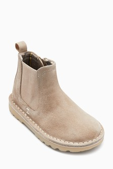 Water Repellent Suede Chelsea Boots (Younger)
