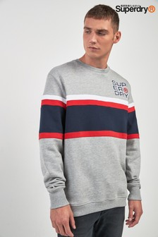 Superdry Grey Appliqué Crew Knit