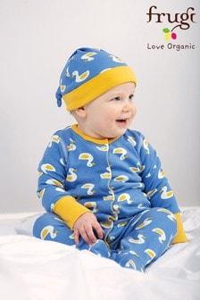 Frugi GOTS Organic 4 Piece Newborn Gift Set - Blue Duck Print