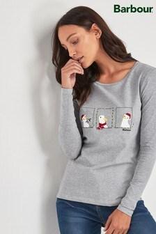 Barbour® Coastal Grey Christmas T-Shirt