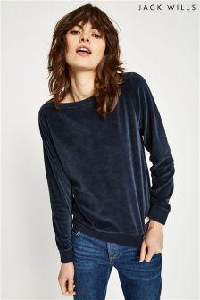 Jack Wills Fromshaw Velour Sweatshirt