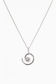 Pave Swirl Necklace