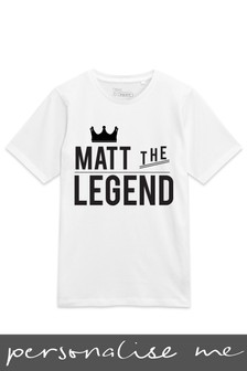 Personalised Dad The Legend T-Shirt