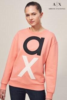 Armani Exchange Pink Logo Sweatshirt