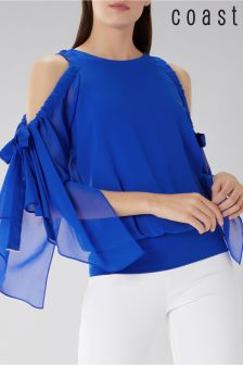 Coast Blue Celeste Cold Shoulder Calla Top
