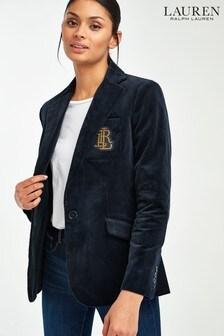 Lauren Ralph Lauren® Navy Corduroy Asiminia Blazer