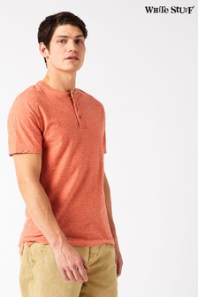 White Stuff Orange Pontoon Henley T-Shirt