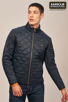 Barbour® International Navy Gear Quilted Jacket