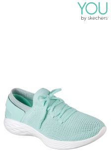 Skechers® Green You Spirit Two Toned Knit Slip-On With Lace Detail