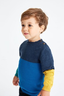 Colourblock Jumper (3mths-7yrs)