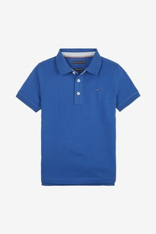 Tommy Hilfiger Boys Blue Regular Fit Polo