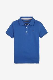 قميص بولو أزرق تلبيس قياسي للصبيان من Tommy Hilfiger