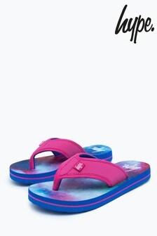 Hype. Blue Spacey Kids Foam Flip Flops
