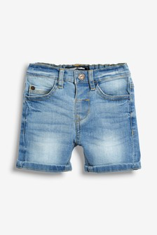 丹寧伸縮短褲 (3個月至7歲)