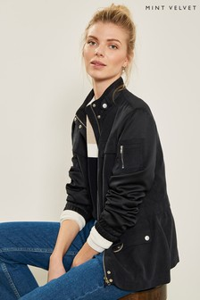 f183f2a29ef Mint Velvet Blue Ink Satin Sleeve Jacket