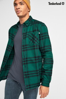 Зеленая рубашка стандартного кроя из плотной фланели в клетку Timberland®