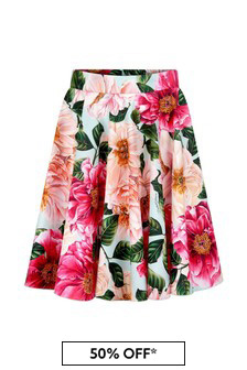 Dolce & Gabbana Girls Pink Cotton Skirt