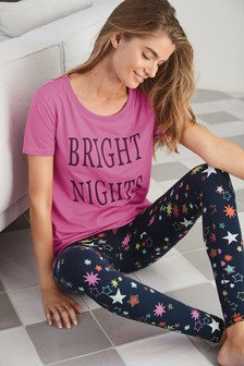 Slogan Star Legging Pyjamas